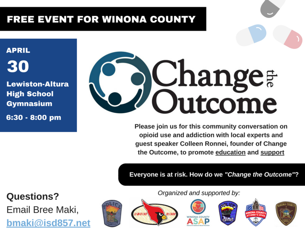 Change, the, outcome, winona, MN, colleen, opioid, overdose