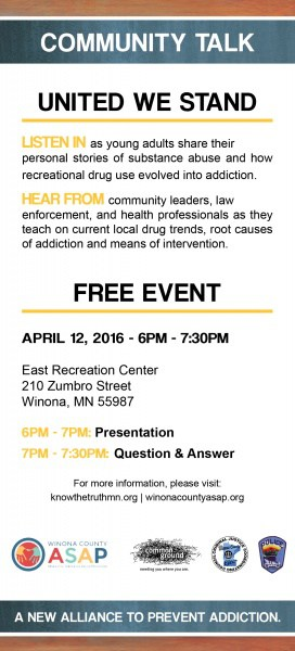 Community Talk, Winona, Engage, ASAP, East Rec Center