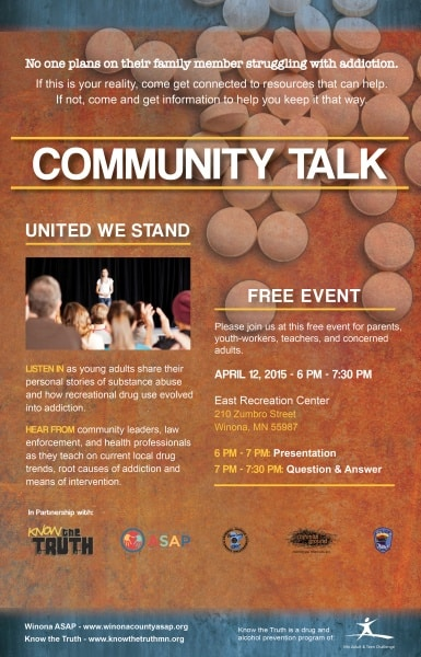 Community Talk, Winona, East Rec Center, ASAP, Family & Children's Center